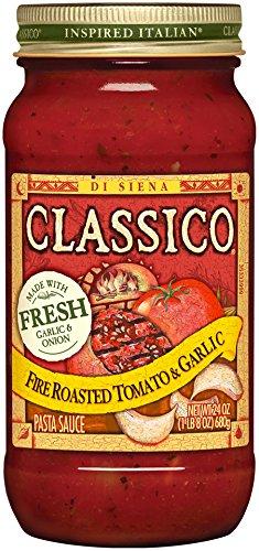 Roasted Garlic Pasta Sauce (Classico Fire Roasted Tomato & Garlic Sauce, 24)