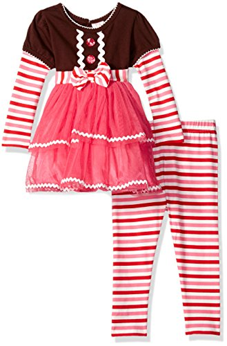 - Youngland Baby Girls' Gingerbread Tutu Dress and Knit Legging, Brown/Multi, 12 Months