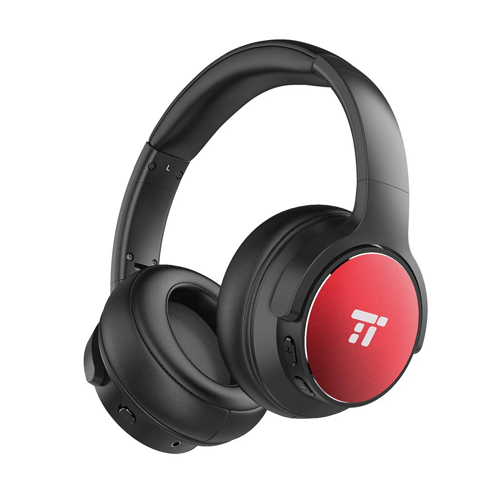 Active Noise Cancelling Bluetooth Headphones, TaoTronics Over Ear Wireless Headset with HiFi Stereo and Powerful Bass(30 Hour Playtime, w/cVc Noise-Cancelling Mic, Comfortable Earpads for Travel Work TV) TT-BH040CA