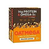 Nutrition Bar Chocolate Peanut Crisp Oatmega Bar, Gluten-Free, Egg-Free 1.8 Ounce (Pack of 12)