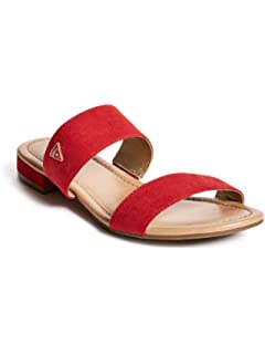 bc82ac2a8d2 GUESS Factory Women s Korine Double-Strap Slip-On Sandals