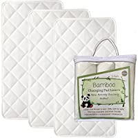 "NEW ANTI SLIP - Larger - 27"" x 14"" - Bamboo Changing Pad Liners - 4 Layers - ..."