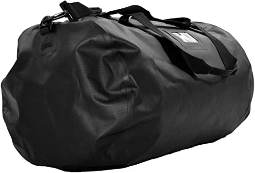 Scull and Sweep 47 Liter Waterproof Large Duffle Bag in Black