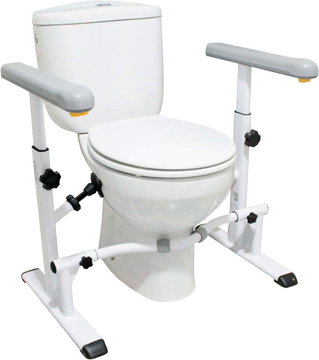 KMINA - Barra de baño minusvalidos, Asideros baño, Reposabrazos inodoro, Barra WC minusvalidos, Barra inodoro