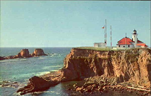 (Scenic Cape Arago Light Coos Bay, Oregon Original Vintage Postcard)