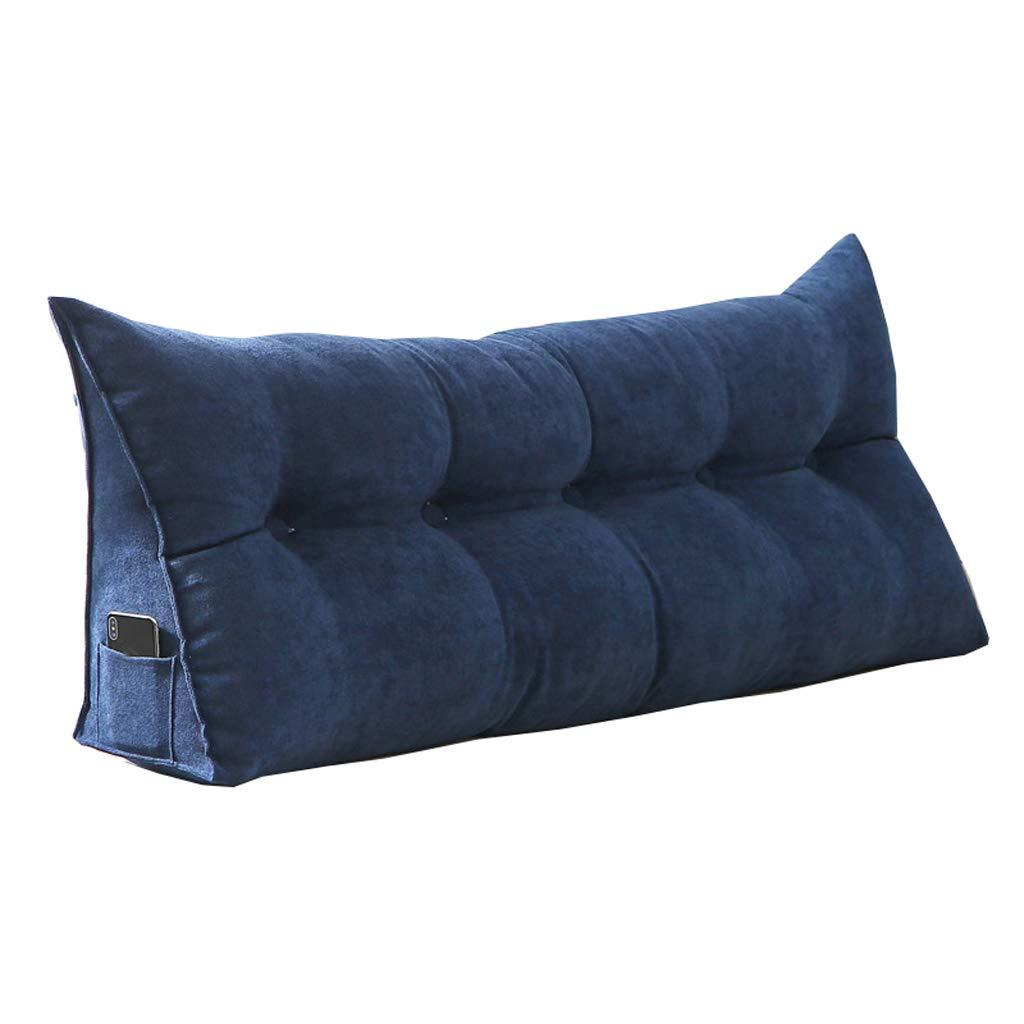 GXY Tatami Kissen Doppelbett Softpack Bett Große Kissen Bett Rückenlehne Kissen (Farbe : Blau, größe : 80 * 50 * 20cm)
