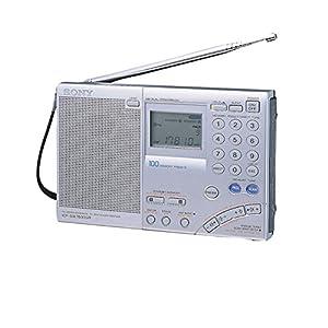Sony ICF-SW7600GR1 Récepteur Radio Multigammes 100 Fréquences Mémorisables – Argent