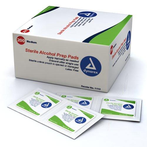 Dynarex 1113 Latex Free Sterile Alcohol Prep Pad (Box of 200)