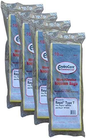 EnviroCare Royal Ultra Tipo T Vertical Comercial Bolsas de aspiradora: Amazon.es: Hogar