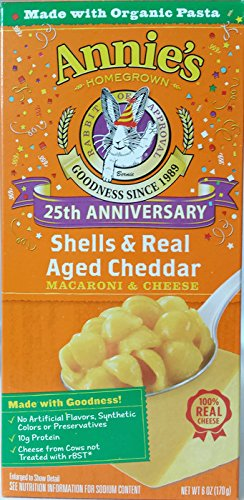 Annie's Homegrown Macaroni & Cheese - Shells & Real Aged Cheddar - 6 oz - 3 Pack by Annie's Homegrown