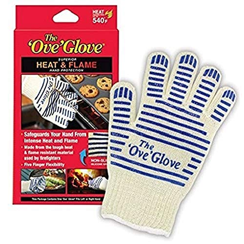 Oven Hot Mitt - Ove' Glove, Heat Resistant, Hot Surface Handler Oven Mitt/Grilling Glove, Perfect For Kitchen/Grilling, 540 Degree Resistance, As Seen On TV Household Gift