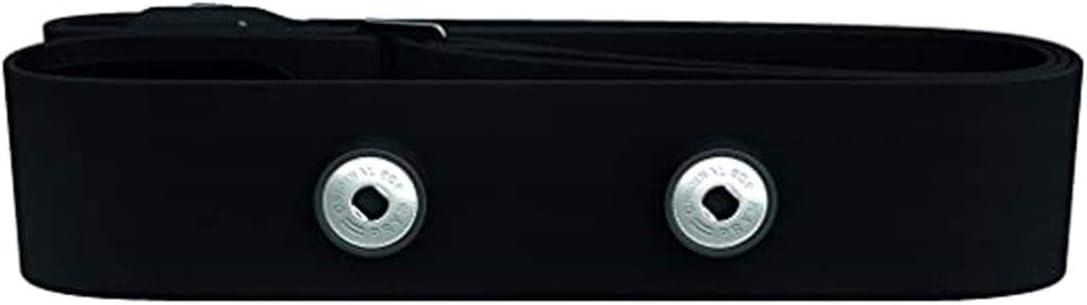 Cinturón de monitoreo de frecuencia cardíaca Deportes al aire libre Cinturón de tela suave Cinturón conductor de frecuencia cardíaca Se puede personalizar - Negro