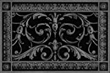 """Decorative Vent Cover, Grille, Return Register, Made of Urethane Resin, in French Style fits Over a 6""""x 10"""" Duct Opening. Total Size, 8"""" x 12"""", for Walls & Ceilings only(not Floors) (Black)"""