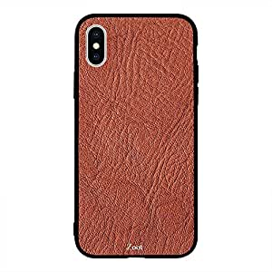 iPhone XS Max Brown Folded Leather Pattern