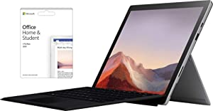 "Newest Microsoft Surface Pro 7 12.3"" Touch-Screen (2736 x 1824) w/Office Home and Student 2019 