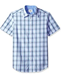 Ben Sherman Men's Short Sleeve Ombre Plaid
