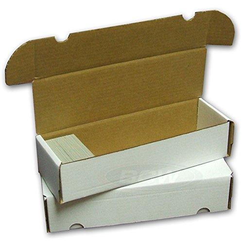 (BCW 660 Count- Corrugated Cardboard Storage Box - Baseball, Football, Basketball, Hockey, Nascar, Sportscards, Gaming & Trading Cards Collecting Supplies (5 Boxes))