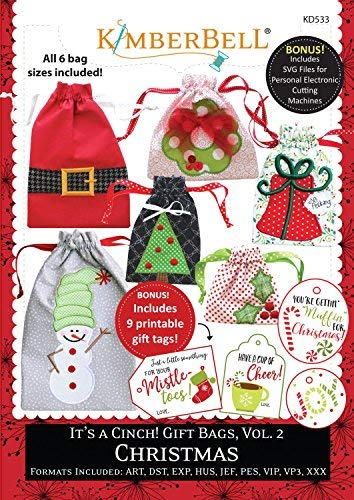 (CD It's A Cinch Gift Bags, Volume 2: Christmas Machine Embroidery CD by KimberBell)