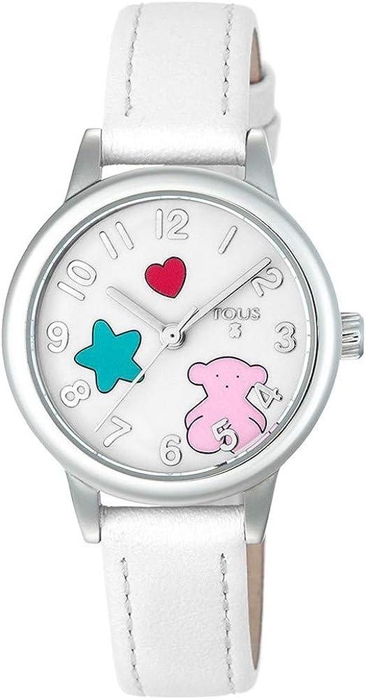 TOUS Reloj Muffin de Acero con Correa de Piel (Caja 28 mm)