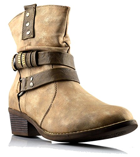 Cats Eyes Womens Synthetic Leather Boots 5 Brown y1pW2Fl
