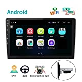 """2021 AMprime 9"""" Single Din Car Stereo Radio Touch Screen FM Receiver MP5 Car Head Unit Support Mirror Link for Android & iOS/Bluetooth/SWC/USB Port + Backup Camera"""