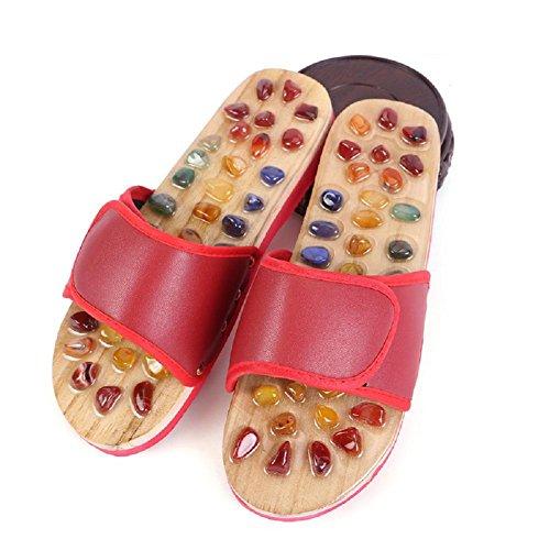 Des Pantoufles Naturel Naturel Agate Des Massage Pieds Pieds Acupoints Sandales Massage Pieds I7wnxBYq