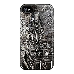 Scratch Resistant Hard Phone Covers For Iphone 4/4s With Provide Private Custom Realistic Skyrim Image NataliaKrause