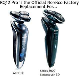 Dedeka Cabezal de Corte Integral RQ12PRO para rasuradora de la Serie Philips RQ1250 1280X 1290X 8000 (SensoTouch 3D) y Cabezal de Repuesto Arcitec Philips Norelco RQ12 +: Amazon.es: Hogar
