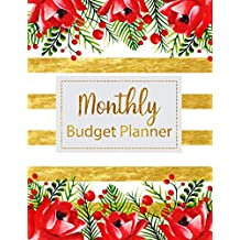 Monthly Budget Planner: Floral Vintage Stripes Weekly Expense Tracker Bill Organizer Notebook Business Money Personal Finance Journal Planning Workbook size 8.5x11 Inches