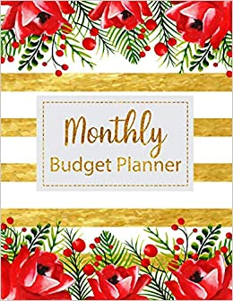 amazon monthly budget planner floral vintage stripes weekly