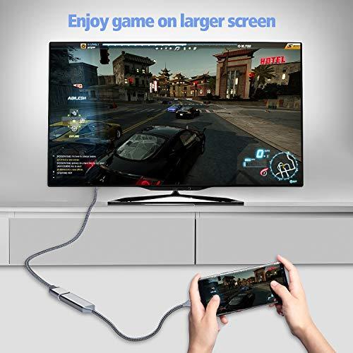 Highwings USB C to HDMI Adapter (4K@60Hz), Type C to HDMI Adapter,Thunderbolt 3 Compatible,Compatible Samsung Galaxy Note 9/S8/S9 Plus/Note8,Surfacebook 2, Pixelbook,2017 MacBook, 2017 iMac,Grey by Highwings (Image #6)