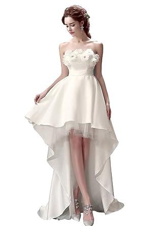 6c090f3d08c18 千恵モール レディース ミニドレス 白 花嫁ドレス ウェディングドレス ミニ パーティードレス 二次会ドレス エンパイア