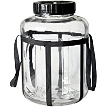 Kegco 5.5 Gallon Wide Mouth Glass Carboy Fermenter Homebrew Beer & Wine Making