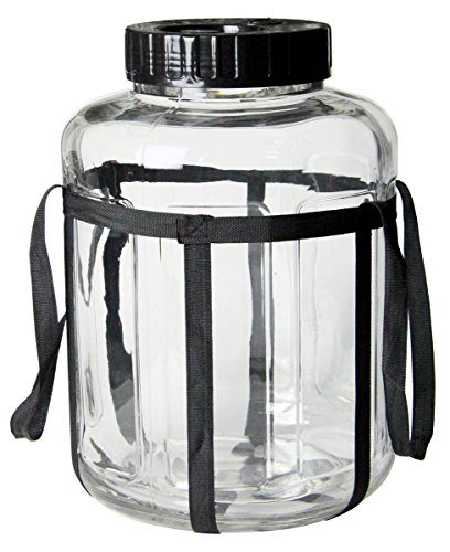 Kegco 7 Gallon Wide Mouth Glass Carboy Fermenter Homebrew Beer & Wine Making (Internet Map)