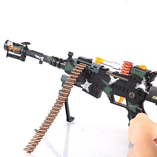 22 inch Rapid Fire Machine Combat 3 Gun with Lights and Sound