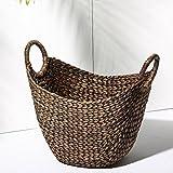 Lqchl The Dirty Clothes Basket, Storage Basket Rattan Laundry Basket Handicraft Basket 47X28X53Cm,Coffee