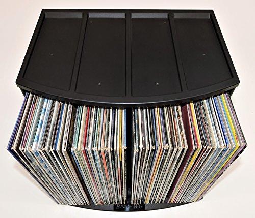 Stackable Vinyl Record Storage Crate LP Album Holder Book Shelf Organizer Desktop Ring Binder Lever Arch Rack Scrapbook 12x12 Paper Storage Display Stand Cube Box