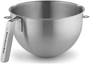 KitchenAid KSMC5QBOWL 5-Quart Mixing Bowl with J Hook Handle, Stainless Steel