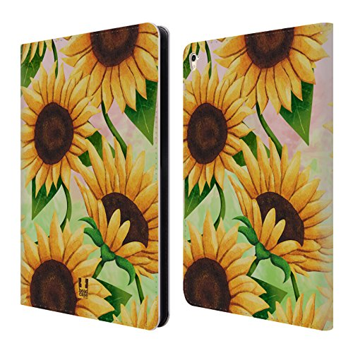 Head Case Designs Sunflower Organic Florals Leather Book Wallet Case Cover For iPad Pro 9.7 (2016)