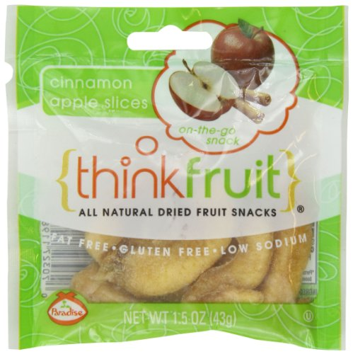 Thinkfruit Cinnamon Apple Slices, 1.5 Ounce (Pack of 10) Cinnamon Apple Slices