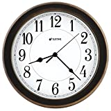 8.5 Inch Simply High-end Plastic Decorative Wall Clock, Water Resistant, Special for Small Space, Office, Boats, RV (W86011 Vintage Bronze) For Sale