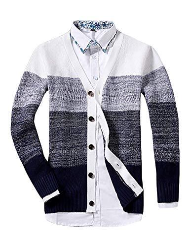 Betrothales En Punto Hombre Para Con V Blanco Sweater Cárdigan Pullover  Jerseys Cuello 8rqv68wd ecc197d2aa93