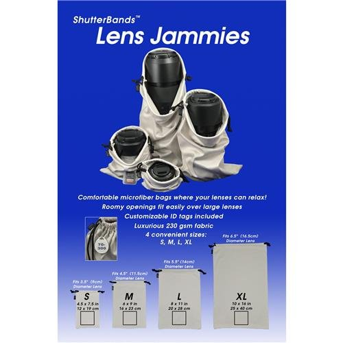 Lens Jammies Microfiber Bags for lens, flash, and other camera accessories