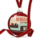 Christmas Decoration USA Rivers Nemadji River - Wisconsin Ornament