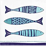 2/Layers 1//4/Fold Sea Fish punta-punta Napkin 40/x 40 Saten ser42118099/Maritime Fish 50/Napkins
