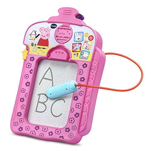 VTech Peppa Pig Scribbles & Sounds Doodle Board, Pink (Peppa Pig Gifts For 2 Year Old)