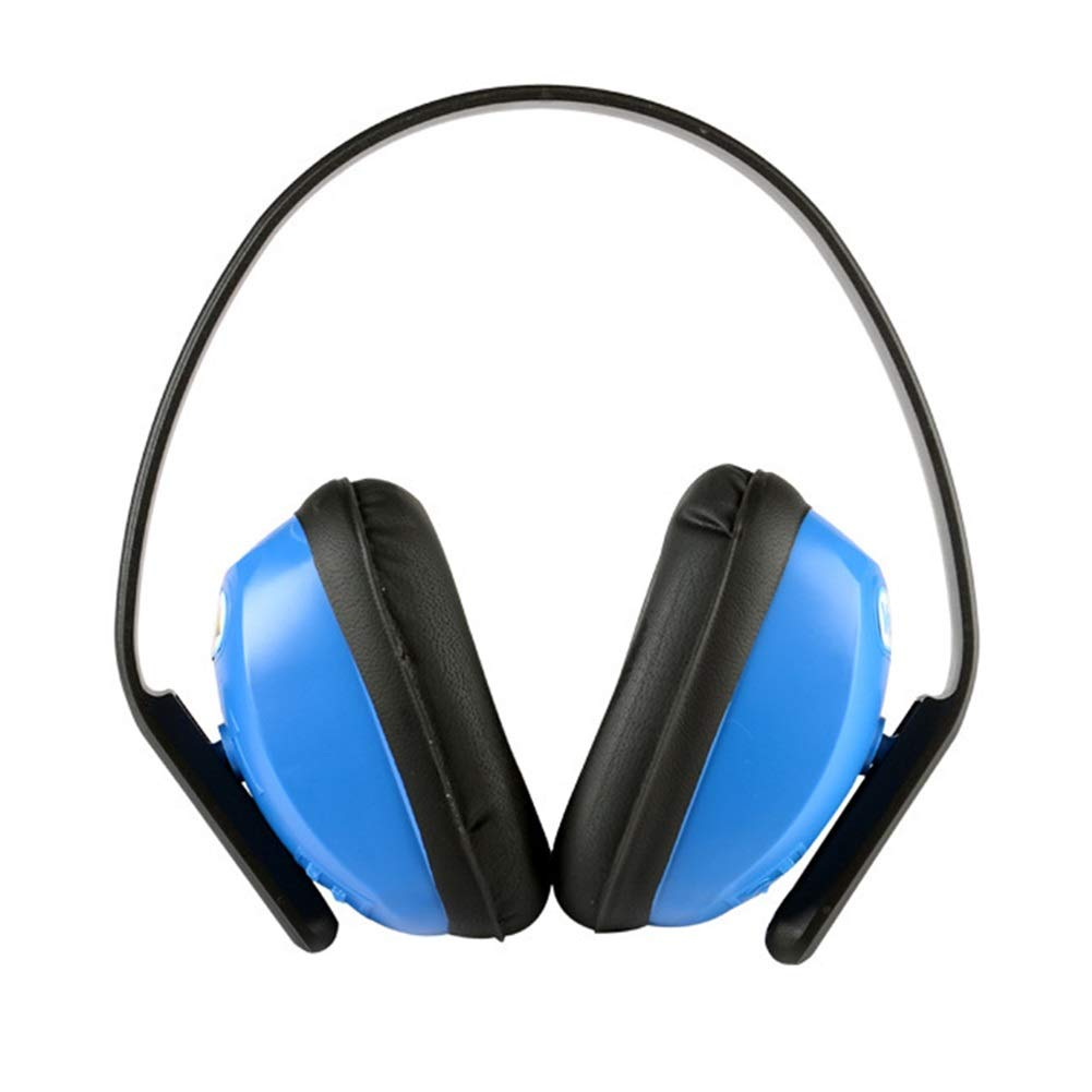 Noise Cancelling Headphones, Head-Mounted Adult Soundproof Earmuffs Noise Reduction Headphones (Blue) by Noise canceling headphones (Image #1)