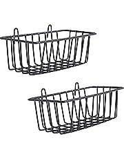 WUZILIN 2 PCS regał do projektowania metalowa kratka ścienna, regał design rastrowy ściana na zdjęcia do powieszenia na ścianie z kratką 22 x 8 x 3,1 cm, czarny