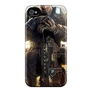 JasonPelletier Iphone 4/4s Shock-Absorbing Cell-phone Hard Covers Unique Design Vivid Gears Of War Image [Npp10487bKav]