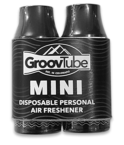 GroovTube Mini 2-Pack. Pocket Sized Super sploof! Removes Odor from exhaled Smoke. Powerful Carbon Filter and Vanilla Spice Scent. Effective and Discreet.